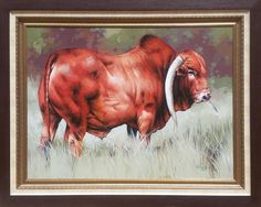 Wakaba Mutheki - Nguni cattle Cattle, Moose Art, Animals, Painting, Animales, Animaux, Painting Art, Cow, Paintings