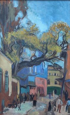 Eren Eyüboğlu - Sokak Local Painters, Perspective Art, Pics Art, Painter Artist, Turkish Art, Old Street, Old Houses, Art Images, Sculpture Art