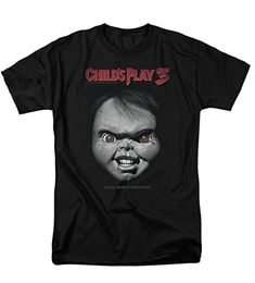 2d34e9501e Trevco Men s Childs Play 3 Face Poster Adult T-Shirt Chucky Face