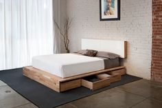 Diy Platform Bed with Storage Drawers - Diy Platform Bed with Storage Drawers , Diy Bed Diy Platform Bed with Storage Nifty Ideas Home Bedroom, Bedroom Furniture, Diy Furniture, Furniture Design, Bedroom Decor, Bedroom Ideas, Brick Bedroom, Furniture Projects, Bedroom Hacks