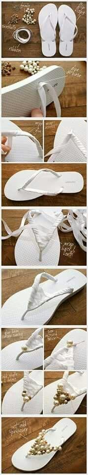Sandale met pêrels