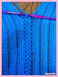 Stricken Fügetechniken «Handgemachter Markt, Stricken It is possible to find more motifs in crochet knitting technique. Booties, cardigans, vests, and even blankets can be made using these motifs… Knitting Stiches, Knitting Patterns Free, Knit Patterns, Crochet Stitches, Hand Knitting, Stitch Patterns, Knit Crochet, Knitting Machine, Knitting Squares