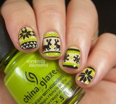 fair isle nails | Christmas sweater nails for Christmas day! More info on the blog: http ...