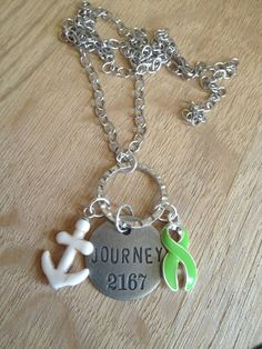 Lime Green Ribbon Awareness, Journey, Anchor of Hope Necklace  This Lime Green Ribbon Awareness, Journey, Anchor of Hope Necklace is a symbol