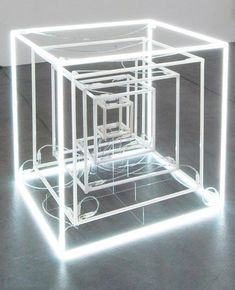 Jeppe Hein - Extended Neon Cube, 2005