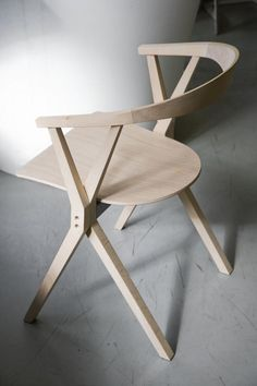 Wooden folding chair by Konstantin Grcic for Barcelona Design