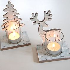 Reindeer and Tree Tealight Holders