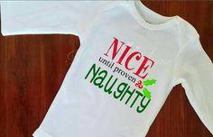 Christmas Shirt Kid Christmas Shirt Naughty or Nice Child Holiday Shirts Preemie Twins Baby/'s First Christmas Boy Christmas Shirt