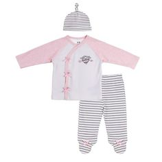 """Baby Outfit with Kimono Style Stop, Hat and Footed Pants  """"#Baby #Toddler #gear # #Boy #Girl #Feeding #Nursing #Nursery #Diapering #Accessories #AtHome #Bath #Bedding #Strollers #Decor #Play #Clothing #Shoes"""""""