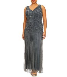 00427eaf83489 Pisarro Nights Beaded Party Wedding Mother of Bride plus size 22W Dress  Gown  Dress Jacket