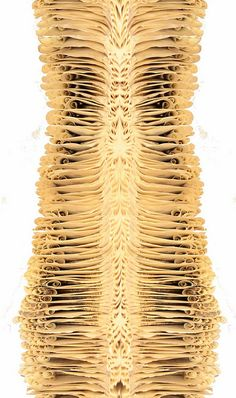 """Book Spine"" paper art by Bronia Sawyer, from the ""Lungs, Body parts, live breath art"" series"