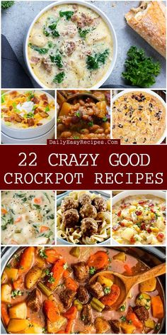 Collection of 22 Best Crockpot Recipes For Autumn – Page 2 – Healthy Food: Recipes, food and diet, weight loss Crock Pot Food, Crockpot Dishes, Crock Pot Slow Cooker, Pressure Cooker Recipes, Crockpot Meals, Best Crockpot Recipes, Soup Recipes, Cooking Recipes, Healthy Recipes