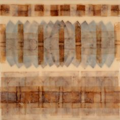 Rodney Thompson,  encaustic, teabag paper, coffee filters