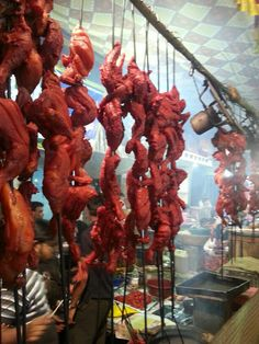 Chicken and Bater being tandoored at Mhmd Ali Road during Ramzan in Mumbai