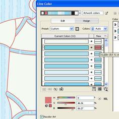 Illustrator Tip: Coloring Artwork Using Live Color. Great website.