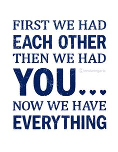 Nursery Decor First we had each other word art by enduringarts, $15.00
