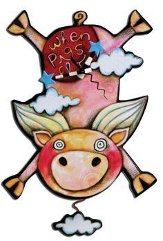 Flying Pig. $30.00, via Etsy.