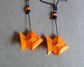 Orange Fish Origami Earrings Orange Fish, Orange Things, Origami, Handmade Items, My Style, Earrings, Ear Rings, Stud Earrings, Ear Piercings