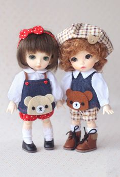 Lovely Rilakkumma doll overalls for Puki fee Yosd by Claradoll