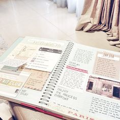 with lists, post its, photos and more. i wish i could achieve this kind of neatness..