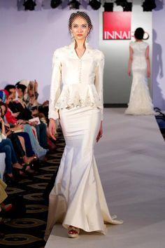 peplum dress by Innai Red #wedding #nikah