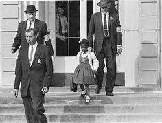 American civil rights activist. She was the first African-American child to desegregate the all-white William Frantz Elementary School in Louisiana during the New Orleans school desegregation crisis in 1960 Black History Facts, Women In History, Black History Month, World History, Ancient History, History Major, Modern History, British History, Louisiana