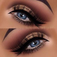 Blaues Auge Make-up Glitter Eye Makeup von Dr. - Make-up Glitter Eye Makeup, Blue Eye Makeup, Eye Makeup Tips, Smokey Eye Makeup, Makeup For Brown Eyes, Eyeshadow Makeup, Makeup Brushes, Makeup Ideas, Makeup Hacks