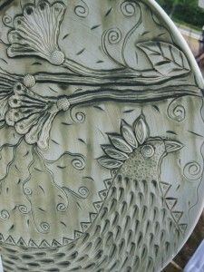 Amy Higgason (Pigeon Road Pottery) Drawing and texture