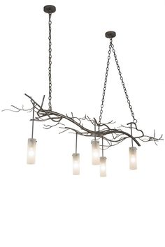 Five Light Chandelier Like The Branches Of A Wise Old Tree Asleep In Thecold Winter Woods Solstice Cilindrochandelier Is An Abstract Expression