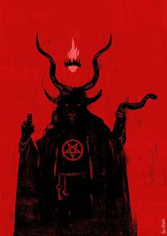 baphomet Not sure why I drew this, I enjoy drawing mythological and religious figures and… Arte Horror, Horror Art, Dark Fantasy, Fantasy Art, Art Noir, Satanic Art, Arte Obscura, Occult Art, Occult Symbols