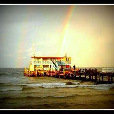 Double rainbow at Rod and Reel Pier on Anna Maria Island