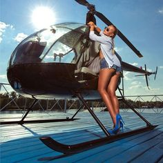 Helicopter girl