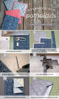 30 Awesome Photo of Sew Potholders Tutorials . Sew Potholders Tutorials Sew Your Own Pot Holders Lia Griffith Craft Tutorials, Sewing Tutorials, Sewing Crafts, Sewing Ideas, Sewing Basics, Sewing For Beginners, Sewing Stitches, Sewing Patterns, Free Sewing