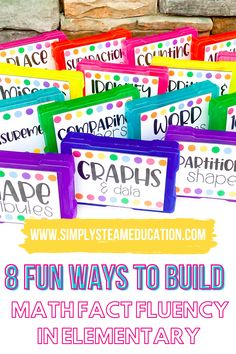 Have you ever wondered how you can build math fact fluency in your class without putting forth a ton of effort? There are so many ways that you can build math fact fluency in elementary. It's beneficial for your students, and that's why I want to share these seven fun activities for building fluency in your classroom! Your students will love these fun and engaging activities! First Grade Crafts, 1st Grade Activities, Fun Activities, Number Activities, First Grade Lessons, First Grade Teachers, Third Grade Math, Simple Math, Easy Math