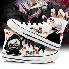 Cosplay Outfits, Anime Outfits, Cool Outfits, Custom Shoes, Custom Clothes, Tokyo Ghoul Cosplay, Anime Inspired Outfits, Painted Canvas Shoes, Diy Kleidung