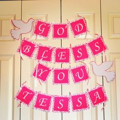 Made this banner for my baby girl baptism. Baptism banner. Baptism decorations :)