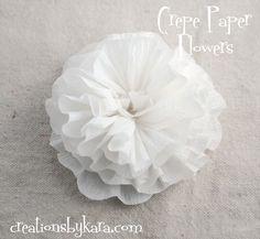 Crepe fiore di carta Tutorial Crepe fiore di carta esercitazione