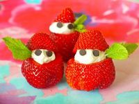 Strawberries and Cream - Weelicious #party, #fun food, #kids, #appetizers, #snacks, #strawberries, #whipped cream, #weelicious