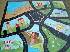 Hand Painted Childs Car Table Design Your Own by ThePaintedPine, $295.00