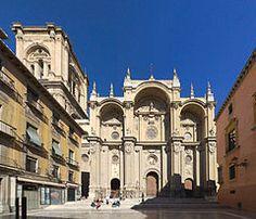 Catedral de la Encarnación de Granada. Planta Renacentista de Diego de Siloé Fachada barroca de... Arquitecto: Alonso Cano Fecha: 1526-1667