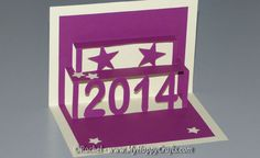 Make the New Year POP with a 2014 Pop-Up Card