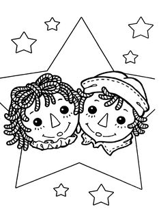 Raggedy Ann Coloring Pages | raggedy ann andy coloring page