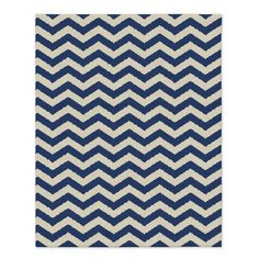 Custom Zig Zag Dhurrie, True Blue, 12'x18'