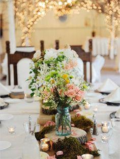 Wedding Reception Ideas - Vintage Mason Jars | Wedding Planning, Ideas & Etiquette | Bridal Guide Magazine