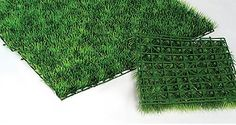 Create a beautiful garden scene with these 9 1/2 inch square Plastic Grass Mats. The grass height is 1 3/8 inches tall.