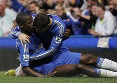 Ramires and Torres <3 Chelsea 2-2 Tottenham Hotspur. May 8, 2013.