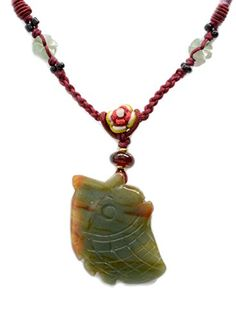 Elegant Carved Fortune Fish Jade Feng Shui Amulet Necklace - Fortune Fashion Jewelry Fortune Jewelry & Healing Beauty http://www.amazon.com/dp/B00PAZDZJ8/ref=cm_sw_r_pi_dp_ot5wub10S2ZSW