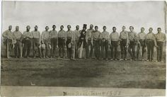 The first ever team photo in baseball history, 1858.
