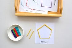 Cute matching activity to learn geometry shapes #Montessori #MontessoriActivity #GeometryActivities