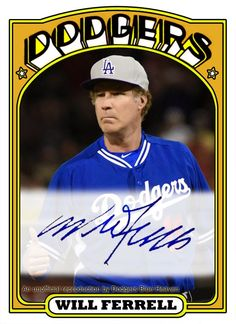 Dodgers Blue Heaven: A Will Ferrell Dodger Baseball Card is Coming